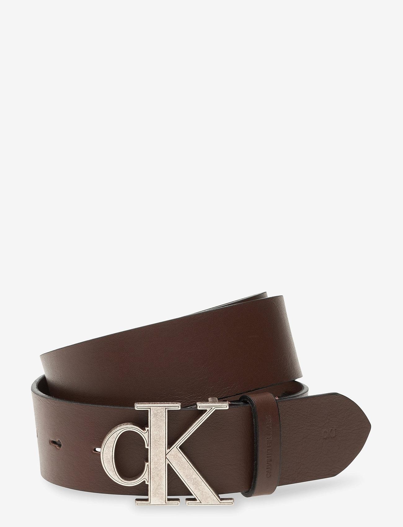 Calvin Klein - CKJ MONO HARDWARE 35MM - ceintures classiques - bitter brown - 0