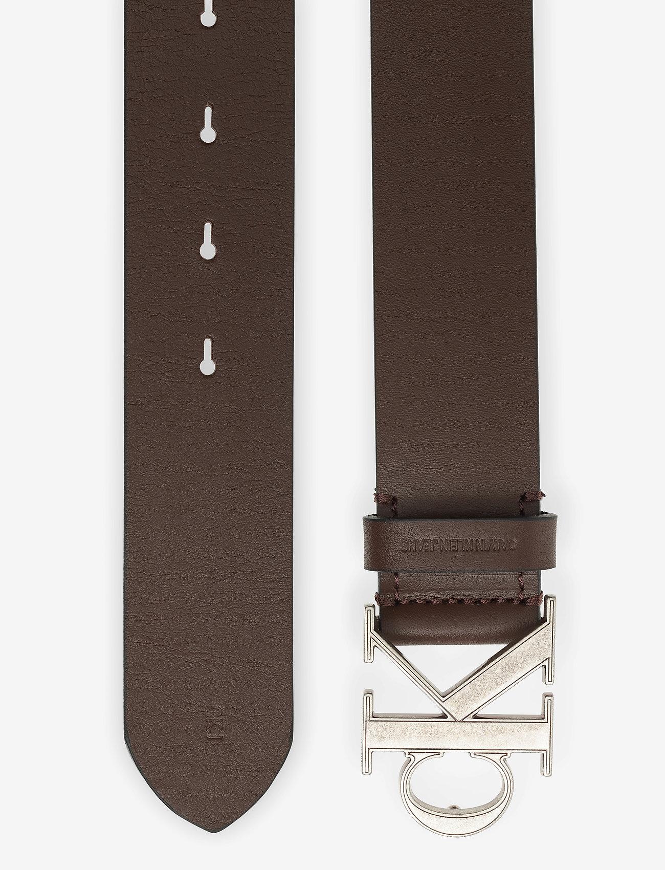 Calvin Klein - CKJ MONO HARDWARE 35MM - ceintures classiques - bitter brown - 1