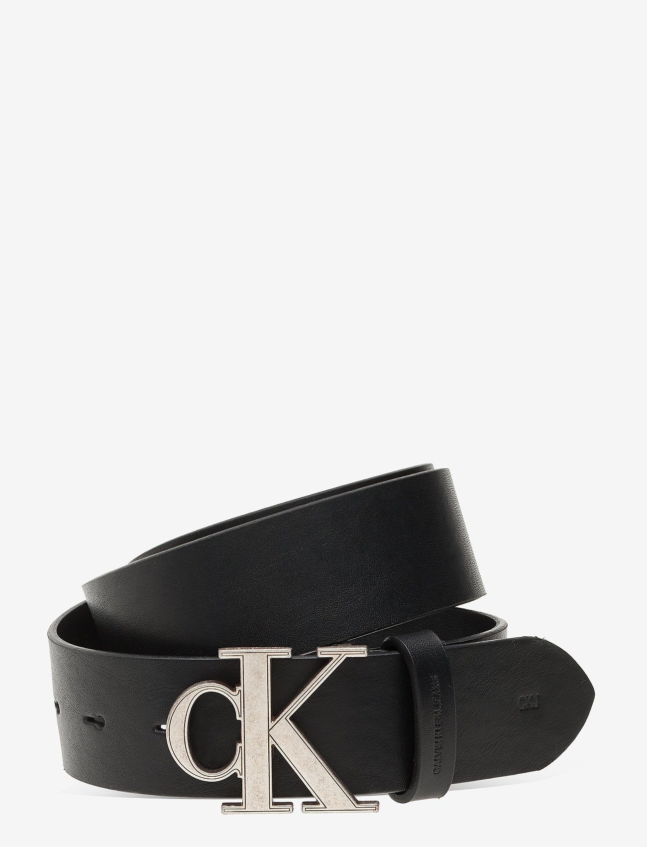 Calvin Klein - CKJ MONO HARDWARE 35MM - ceintures classiques - black - 0