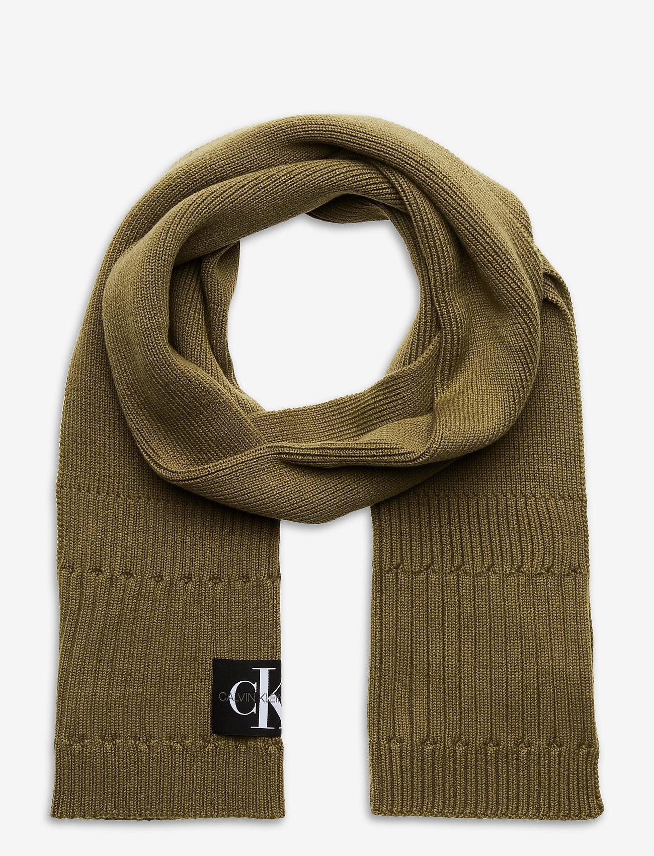 Calvin Klein - BEANIE + SCARF - chapeaux - olive night - 1