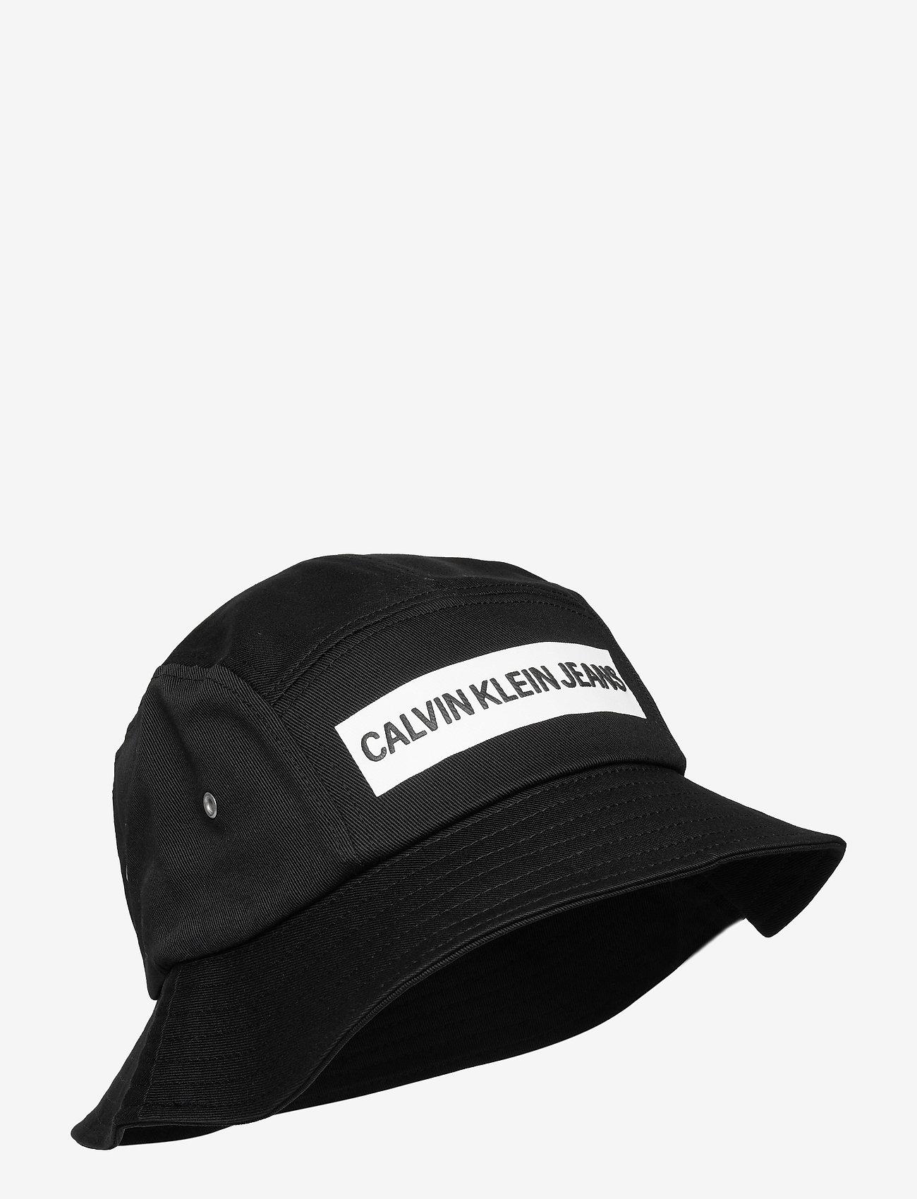 Calvin Klein - BUCKET INSTITUTIONAL - bucket hats - black - 0