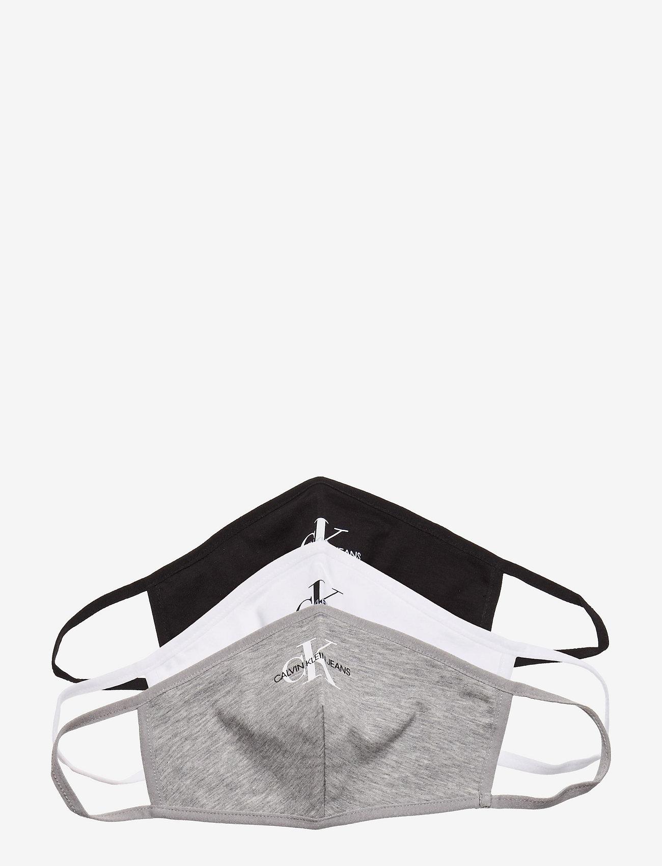 Calvin Klein - FACE COVER 3-PACK - ansiktsmasker - black/bright white/grey - 0