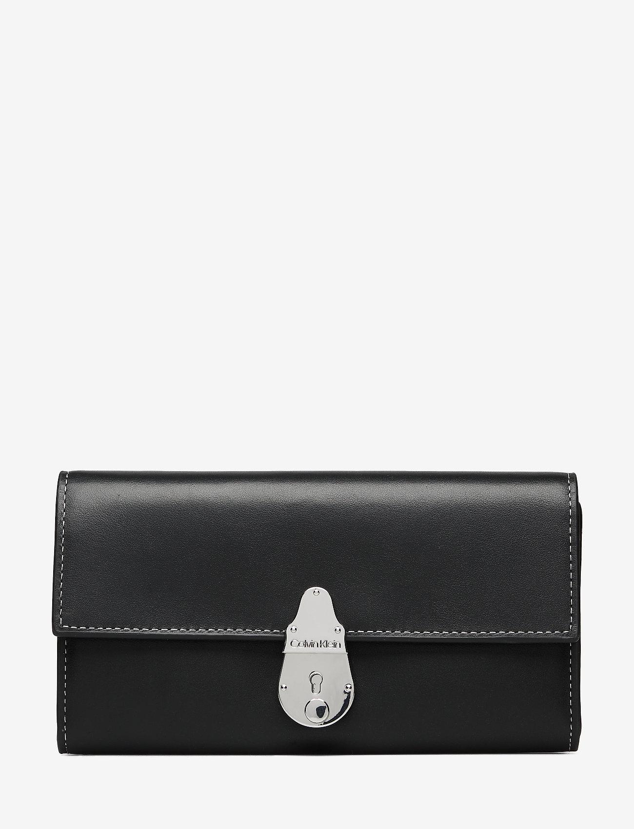 Calvin Klein - LOCK TRIFOLD - beurzen - black - 0