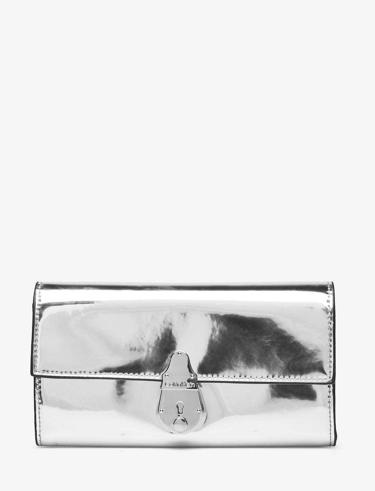 Calvin Klein - LOCK TRIFOLD S - beurzen - silver - 0