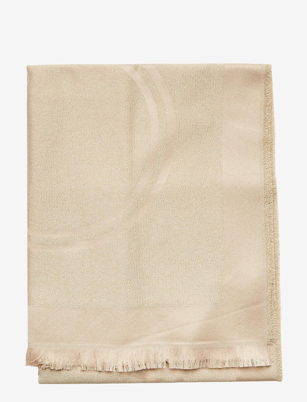 Calvin Klein - LUREX STOLE - tørklæder - champagne