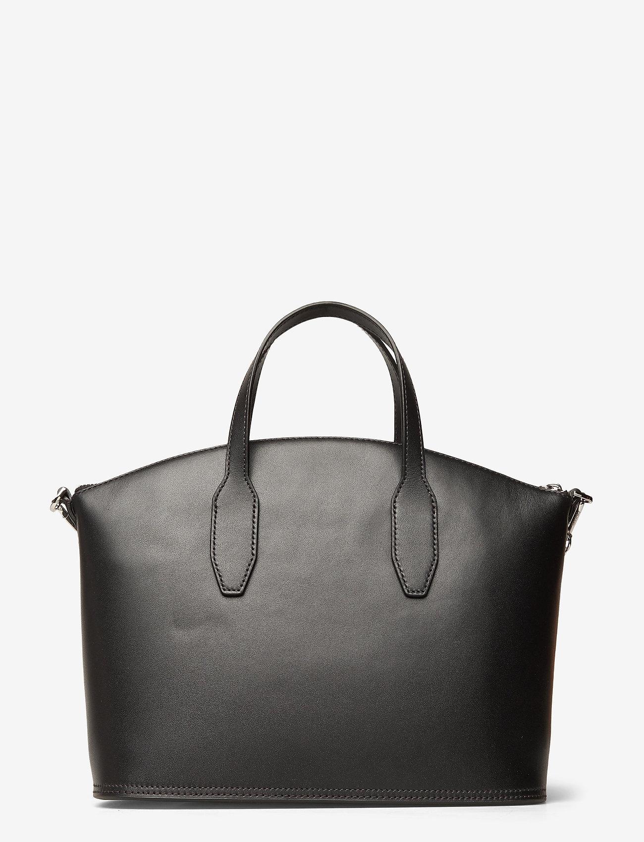 Calvin Klein - LOCK DOMED TOTE - handväskor - black - 1