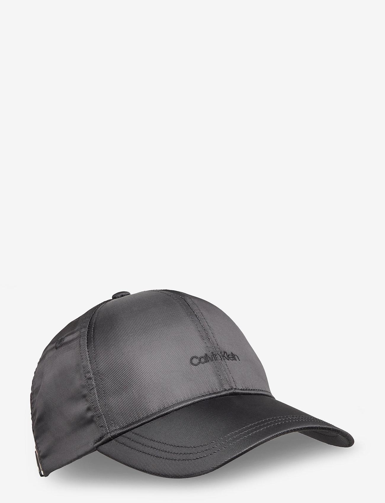 Calvin Klein - EMBROIDERY LOGO SATIN BB CAP - caps - black - 0