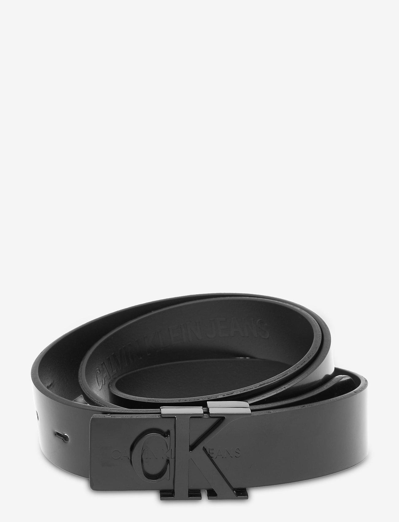 Calvin Klein - LOGO SM LTH 30MM - riemen - black - 0