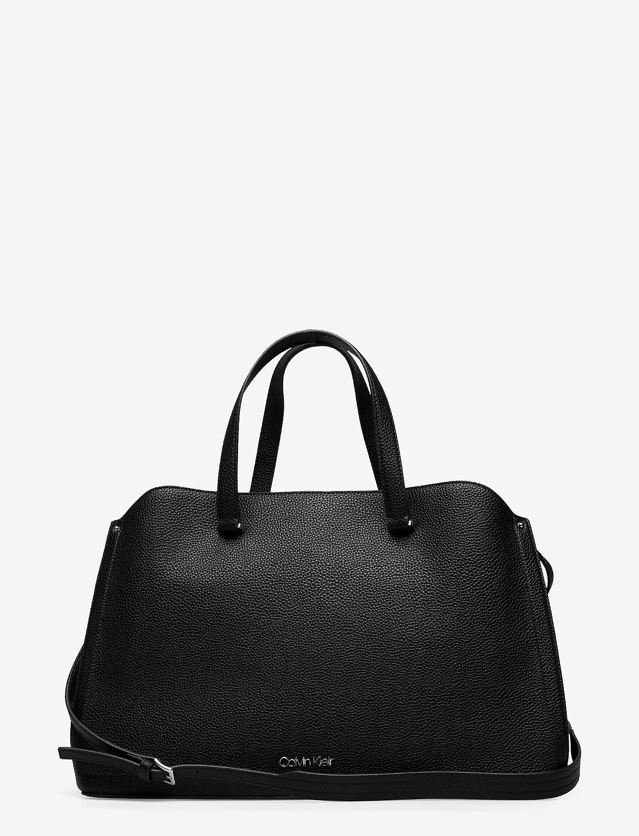 Calvin Klein - TOTE LG - handväskor - ck black - 0