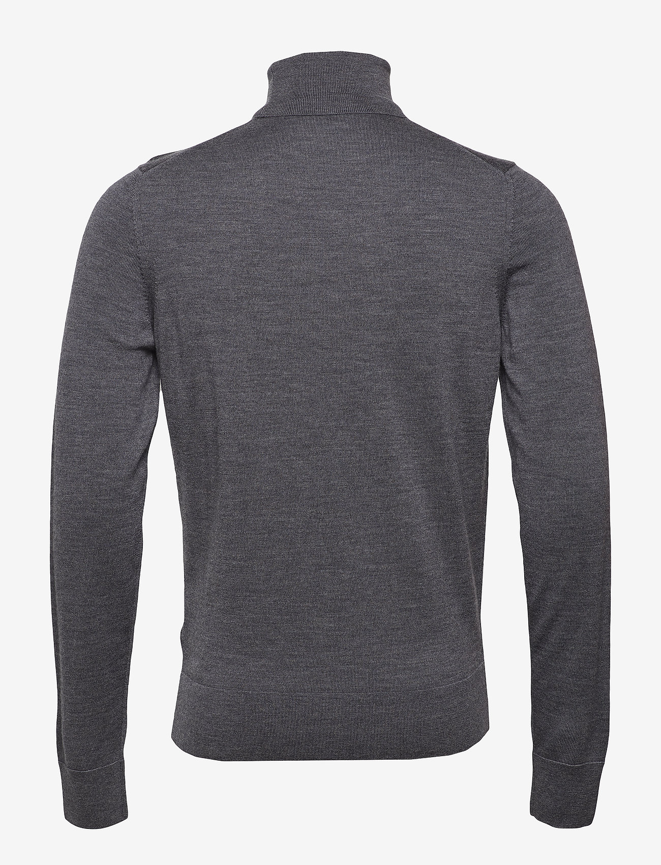Calvin Klein - SUPERIOR WOOL TURTLE NECK - basic knitwear - mid grey heather