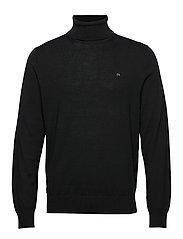 Calvin Klein SUPERIOR WOOL TURTLE - CALVIN BLACK