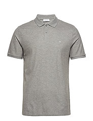 REFINED PIQUE CHEST - MID GREY HEATHER