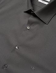 Calvin Klein - 2PLY POPLIN STRETCH SLIM SHIRT - basic shirts - charcoal - 2
