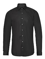 2PLY POPLIN STRETCH SLIM SHIRT - DF BLACK