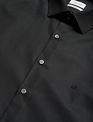 Calvin Klein - 2PLY POPLIN STRETCH SLIM SHIRT - basic shirts - df black - 2
