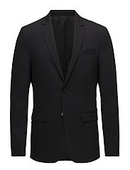 STRETCH WOOL SLIM SU - PERFECT BLACK