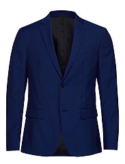 TWO TONE WOOL TROPICAL BLAZER - CLEMATIS BLUE