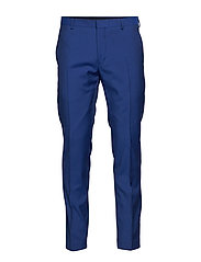 TWO TONE WOOL TROPICAL PANT - CLEMATIS BLUE