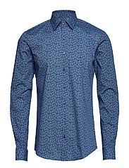 Paisley Stretch Slim Skjorte Uformell Blå CALVIN KLEIN