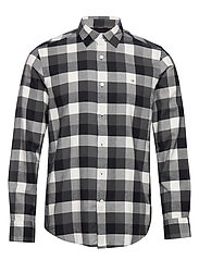 BRUSHED TWILL CHECK SHIRT - BLOCK CHECK - BLACK / GREY / E