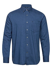 BUTTON DOWN BRUSHED TWILL SHIRT - CALVIN NAVY
