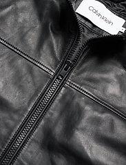 Calvin Klein - NAPPA BIKER - lederjacken - calvin black - 2
