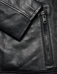 Calvin Klein - NAPPA BIKER - lederjacken - calvin black - 3