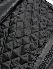 Calvin Klein - NAPPA BIKER - lederjacken - calvin black - 4