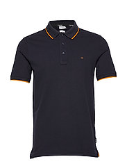 STRETCH TIPPING SLIM POLO - CALVIN NAVY