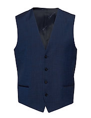 WOOL COTTON TROPICAL WAISTCOAT - REGAL NAVY