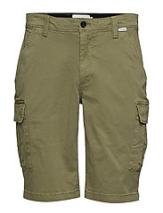 GARMENT DYED CARGO SHORTS - DELTA GREEN