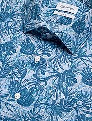 Calvin Klein - PALM PRINT S/S SLIM - overhemden korte mouwen - blue - 2