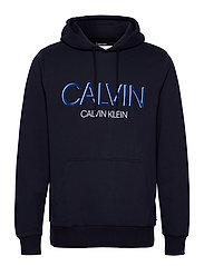 CALVIN SHADOW LOGO HOODIE - CALVIN NAVY