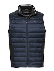 LIGHT WEIGHT SIDE LOGO VEST - CALVIN NAVY