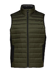 LIGHT WEIGHT SIDE LOGO VEST - DARK OLIVE