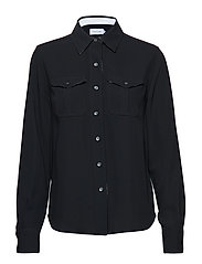 POLICE PKT SHIRT LS - BLACK