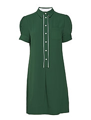 DETAIL SHIRT DRESS S - GREEN
