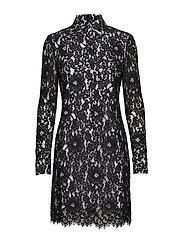 LACE DRESS LS - PERFECT BLACK