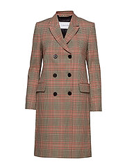 FITTED DOUBLE  BREASTED COAT - HERITAGE CHECK