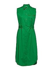 BELT DETAIL SHIRT DRESS NS - FERN GREEN