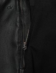 Calvin Klein - ESSENTIAL LEATHER MIX LEGGING - lederhosen - calvin black - 4
