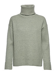 LS TURTLE NECK SWEATER - SEAGRASS