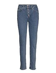 HIGH RISE SLIM PANT - NATAL BLUE