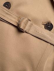 Calvin Klein - TENCEL TRENCH DRESS - trenchcoats - travertine - 3