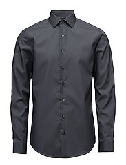 POPLIN EASY IRON FIT - CHARCOAL