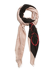 BLOCK OUT SCARF W - NUDE