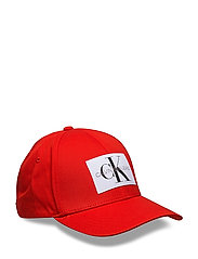 J MONOGRAM BASEBALL CAP W - RED