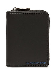 SCULPTED FRENCH WALLET - BLACK