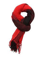 J BUFFALO CHECK WOOL - BLACK & RED BUFFALO CHECK
