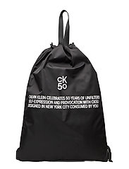 CKJ 50 DRAWSTRING GYM BAG - BLACK